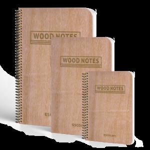 Cuaderno tapa de madera